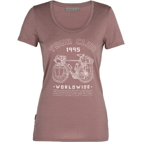 Icebreaker Tech Lite SS Crew Shirt Tour Club 1995 Women, suede